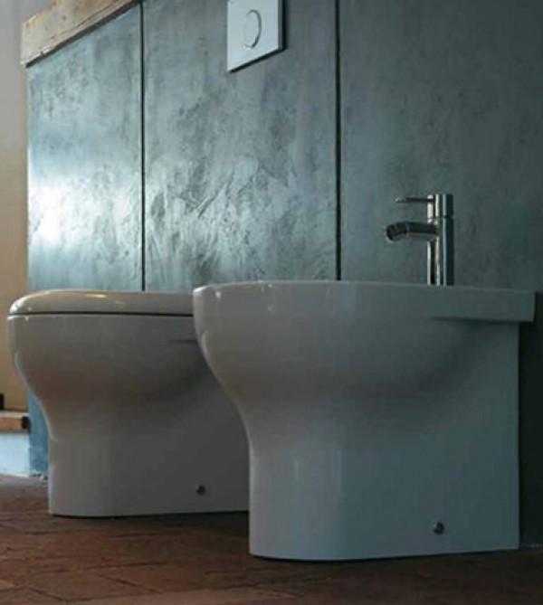Sanitari bagno vaso filo muro bidet e coprivaso soft close grace globo arredobagno e cucine s - Sanitari bagno globo ...