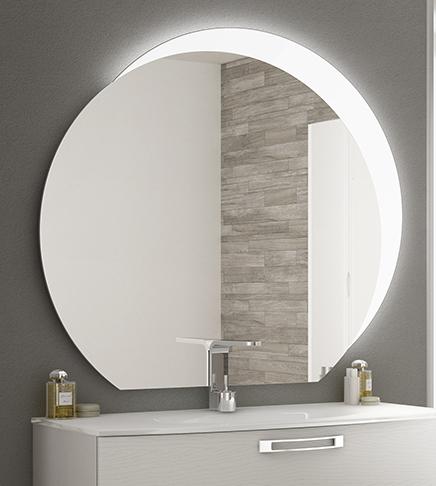 Specchiera specchio bagno filo lucido design con fascia for Specchi bagno prezzi